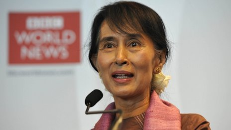 Nobel Peace Prize winner Aung San Suu Kyi is calling on the UK to help rebuild Burma's universities.